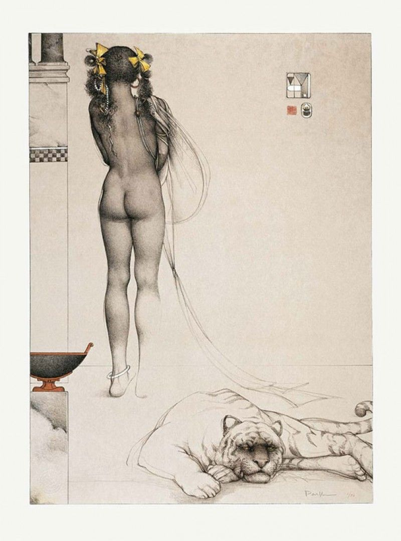 michael_parkes_litho_nubian_girl_1994