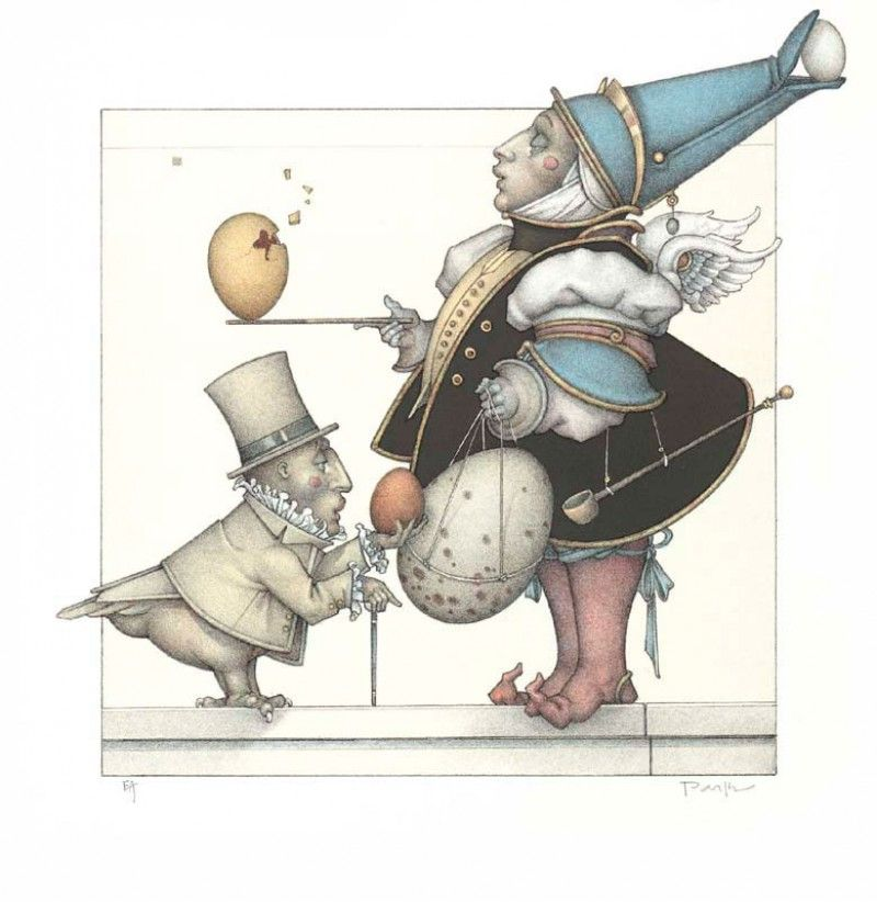 michael_parkes_litho_the_egg_collector_2007