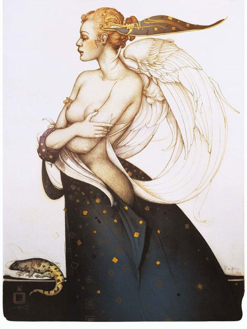 michael_parkes_litho_the_golden_salamander_1991