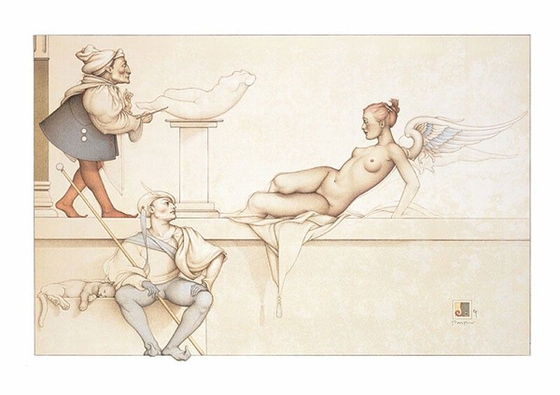michael_parkes_litho_the_sculptor_2003