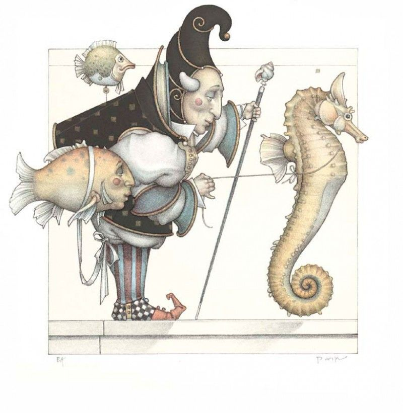 michael_parkes_litho_the_seahorse_collector_2007