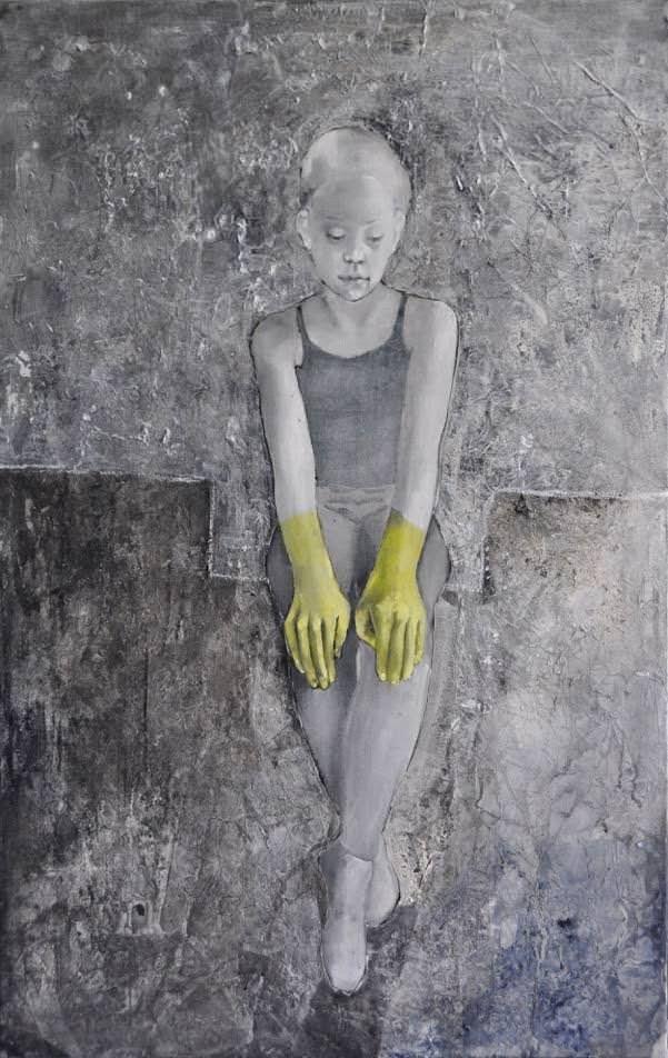 34 Green Hands, 120 x 80